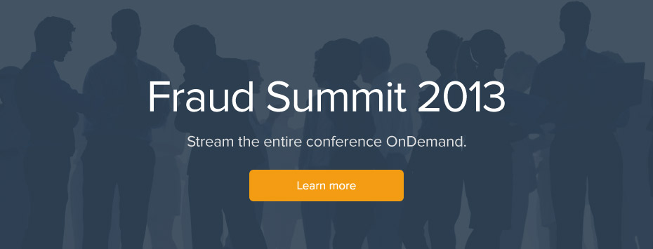 Fraud Summit 2013